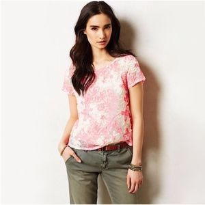 Meadow Rue Anthropologie Cherry Blossom Top